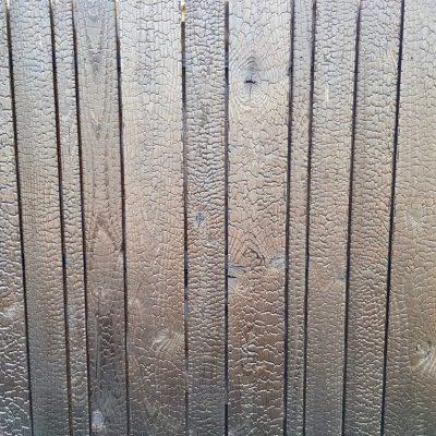 Burned Wood Douglas gefixeerd erfafscheiding open profiel in 3 verschillende breedtes